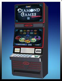 Touching slot machine screen